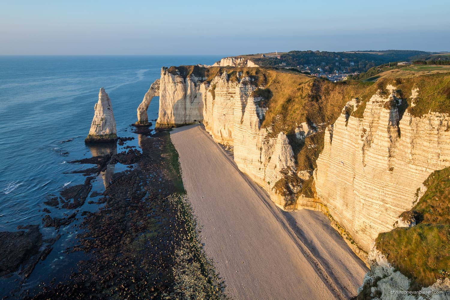 Normandy - France - Sunset over the alabaster coast in Étretat, Normandy, France. - The Alabaster Coast