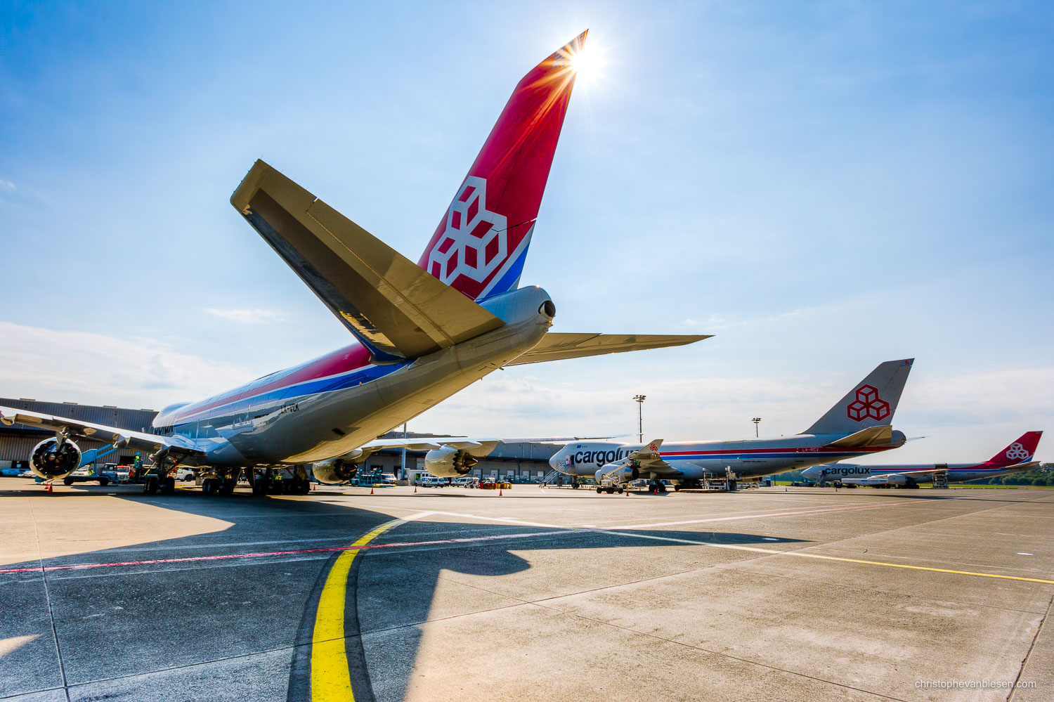 Work with me - Commission Work - Boeing 747 of Luxembourg's Cargolux fleet - Giants - Photography by Christophe Van Biesen - Luxembourg Landscape and Travel Photographer