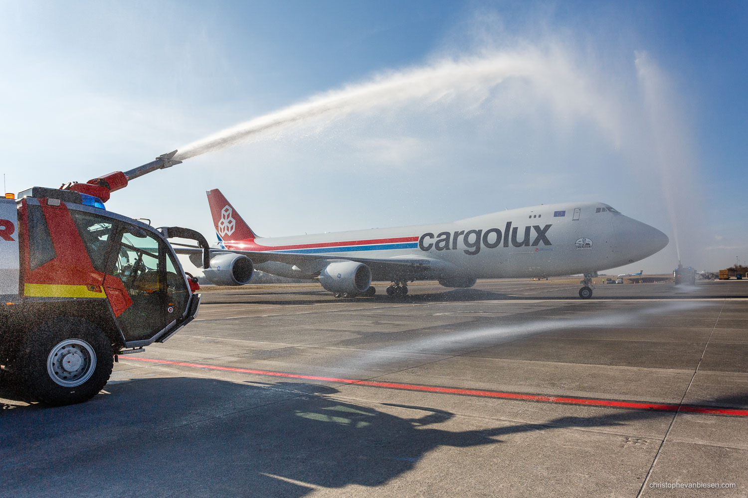 Work with me - Commission Work - Boeing 747 of Luxembourg's Cargolux fleet - Inauguration - Photography by Christophe Van Biesen - Luxembourg Landscape and Travel Photographer