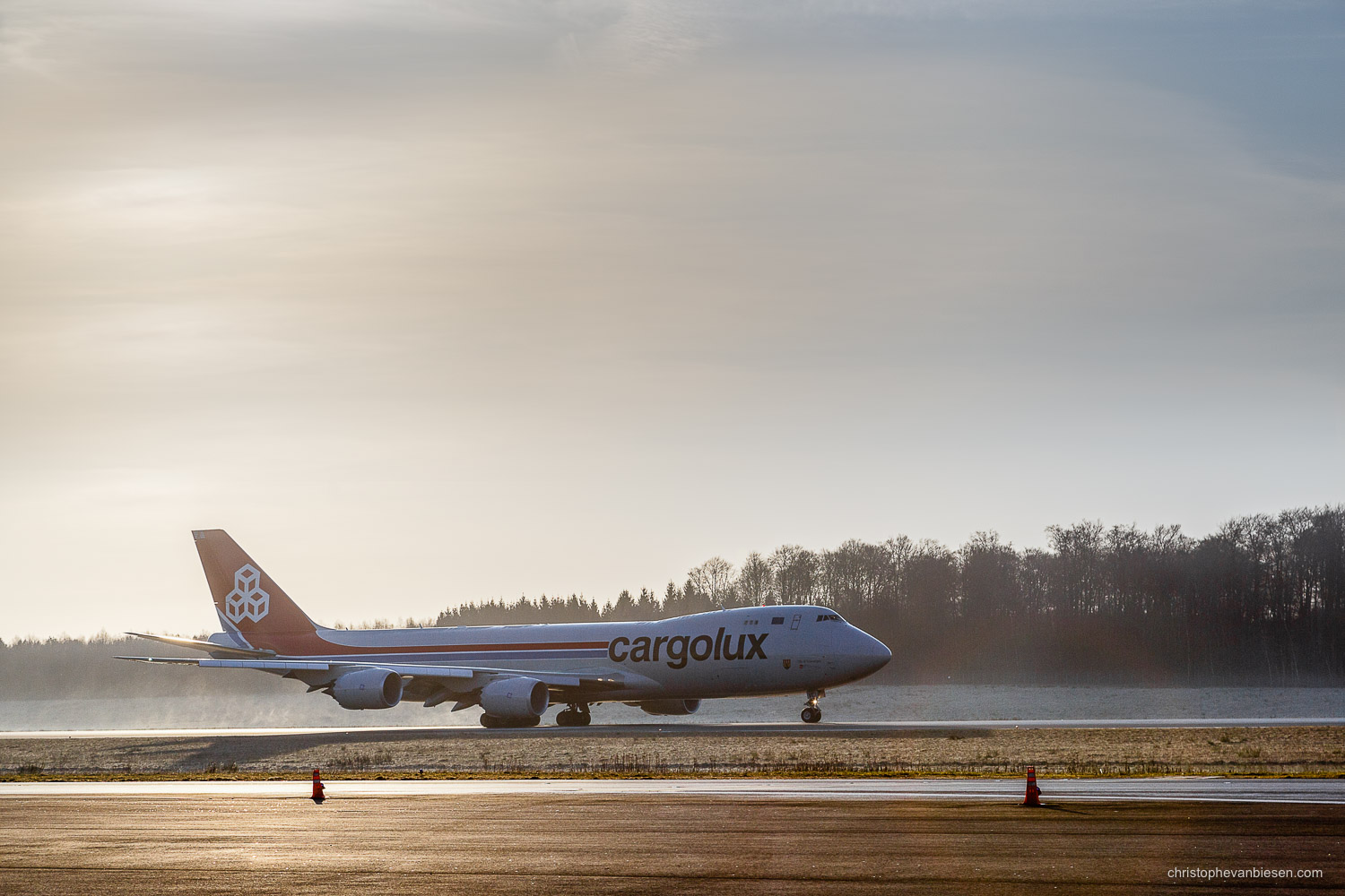 Work with me - Commission Work - Boeing 747 of Luxembourg's Cargolux fleet - Landing - Photography by Christophe Van Biesen - Luxembourg Landscape and Travel Photographer
