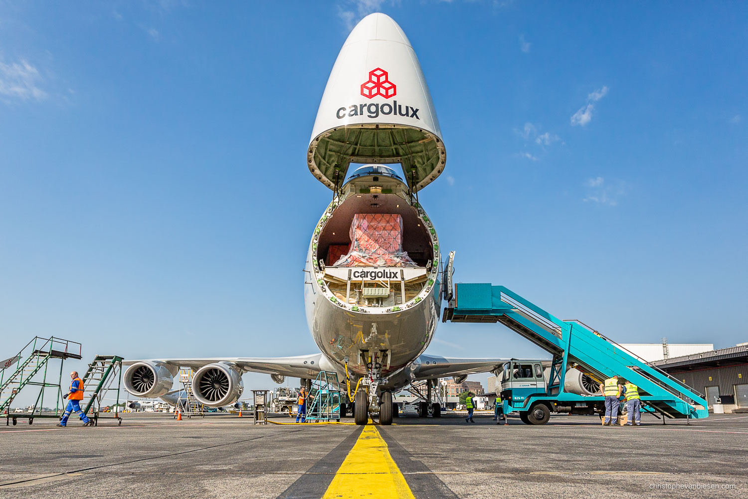 Work with me - Commission Work - Boeing 747 of Luxembourg's Cargolux fleet - Say Aaaah - Photography by Christophe Van Biesen - Luxembourg Landscape and Travel Photographer