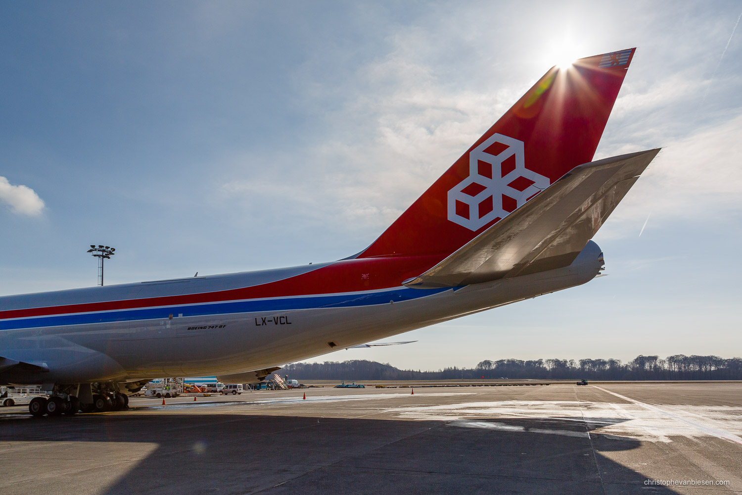 Work with me - Commission Work - Boeing 747 of Luxembourg's Cargolux fleet - Tail - Photography by Christophe Van Biesen - Luxembourg Landscape and Travel Photographer