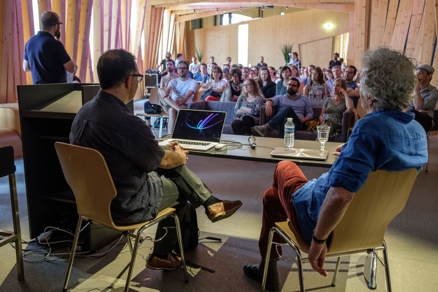 Luxembourg Street Photography Festival at Rotondes - Conference with Harry Gruyaert - LSPF 2018 - Photography by Christophe Van Biesen - Luxembourg Landscape and Travel Photographer
