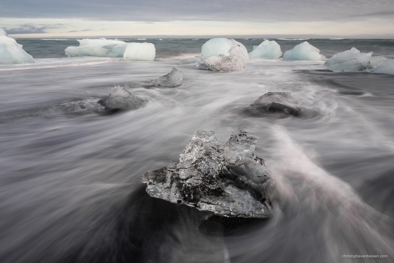 Jokulsarlon - Iceland - Glacier beach in the South of Iceland - Diamond Beach