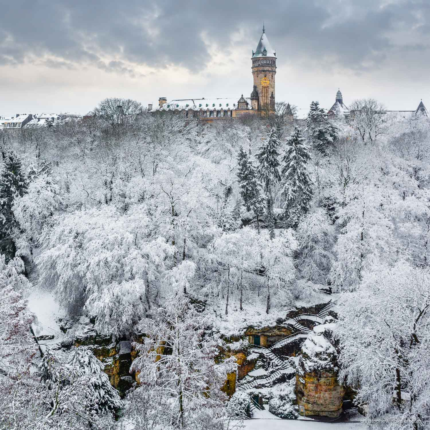 Top 25 photos made in Luxembourg - Snow and frost in Luxembourg City's Petrusse Valley