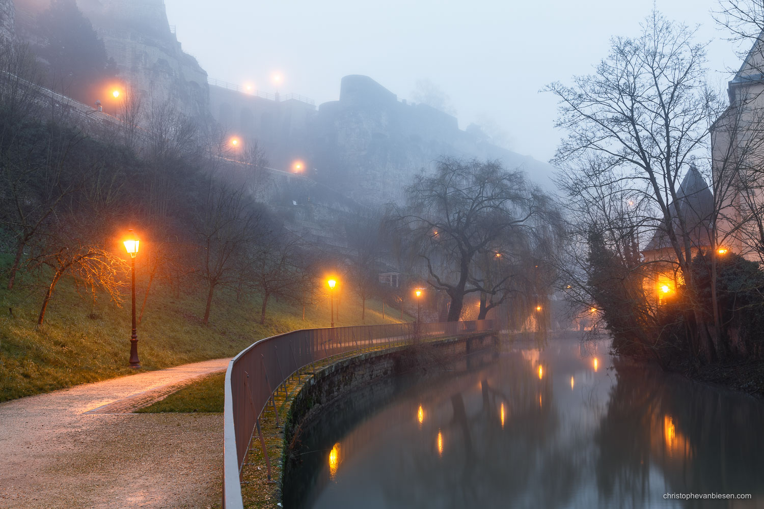 Top 25 photos made in Luxembourg - Dawn at Luxembourg City's Alzette