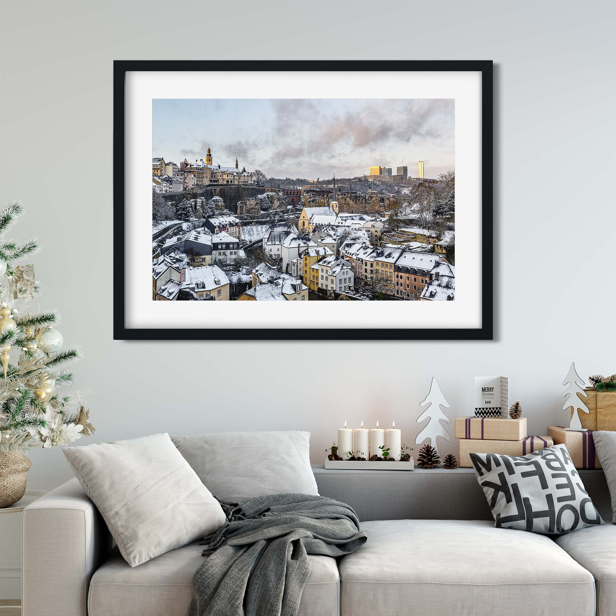 Luxembourg Christmas Gifts - Artworks - Framed Art Print - The Fabled City - Photography by Christophe Van Biesen