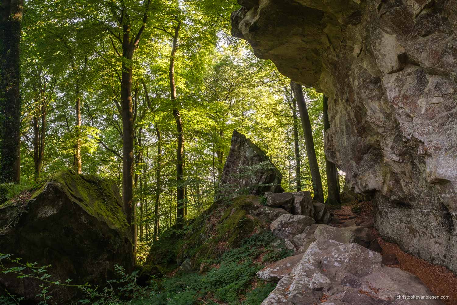 Visit the Mullerthal - Luxembourg - Hiking along the Mullerthal trail in eastern Luxembourg - Crumbling Rocks