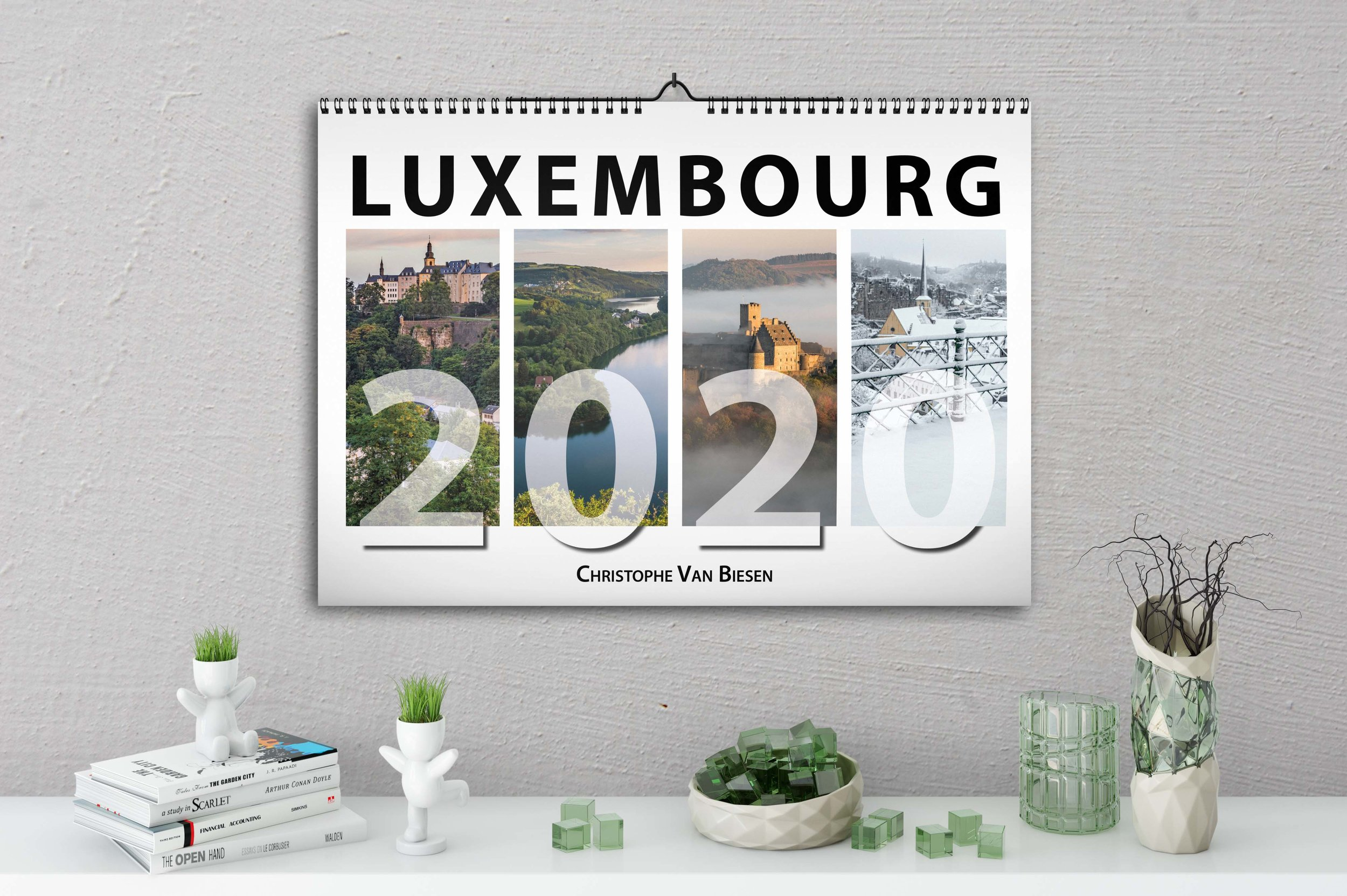 Luxembourg Calendar 2020 - Annual Calendar - Wall Calendar - Photography by Christophe Van Biesen - Luxembourg Landscape and Travel Photographer