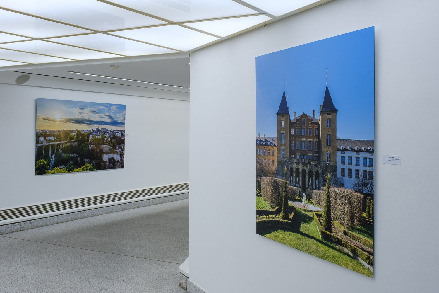 Landscape photography exhibition at the Contemporary Art Gallery Am Tunnel in Luxembourg City - Home and Away - Landscapes by Christophe Van Biesen - The exhibition in pictures