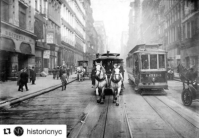 Now this is a real #tbt . . Can you spot the building where Drive495 is located now? 😱 . . Broadway north on Broome Street (1917) . . #Repost @historicnyc with @get_repost
