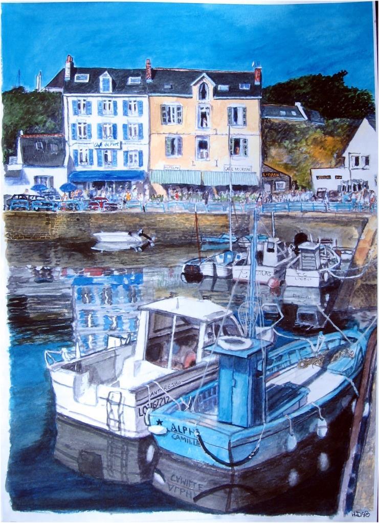 Port Tudy, Groix, Aquarell