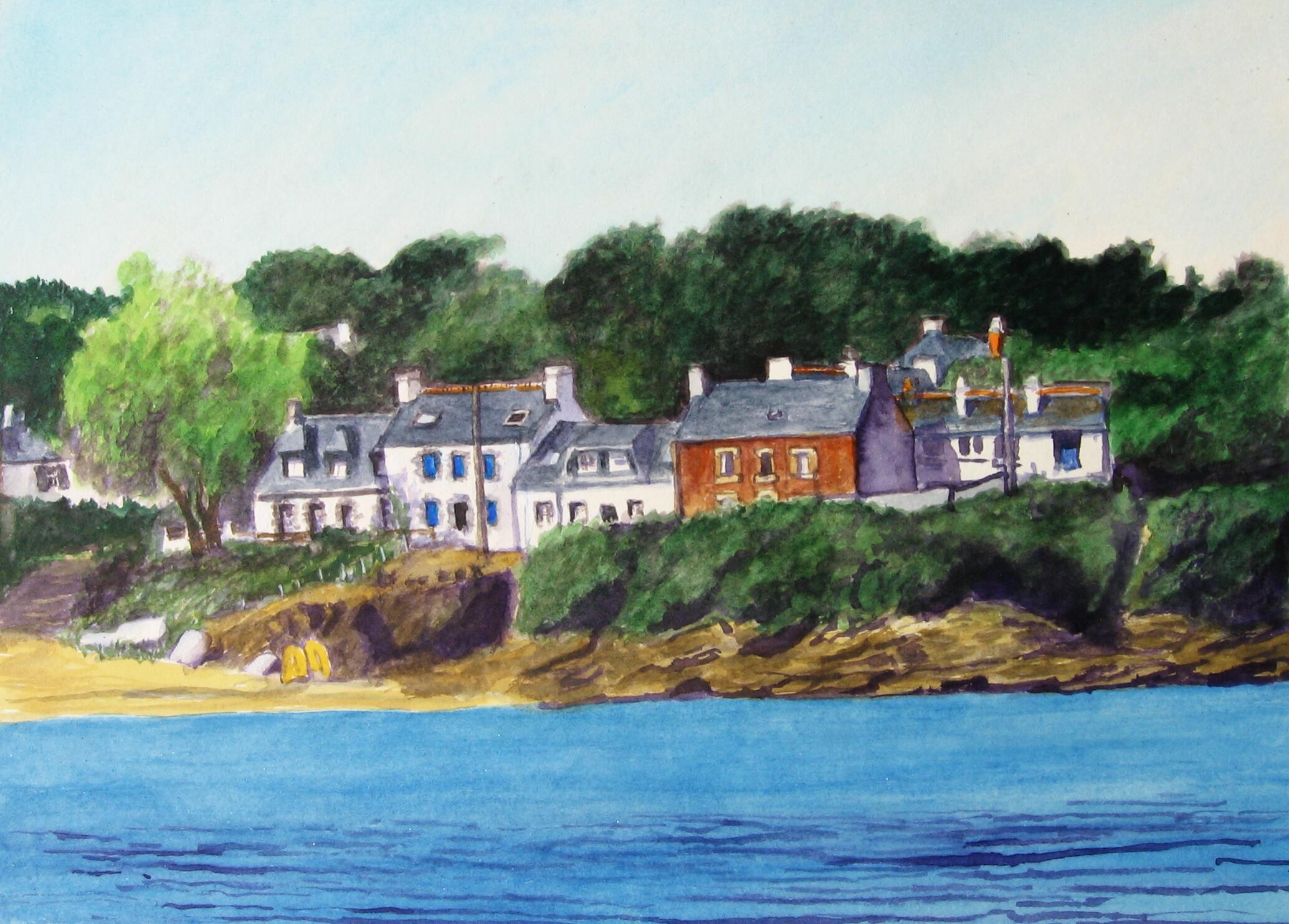 Port Melite, Groix, Aquarell
