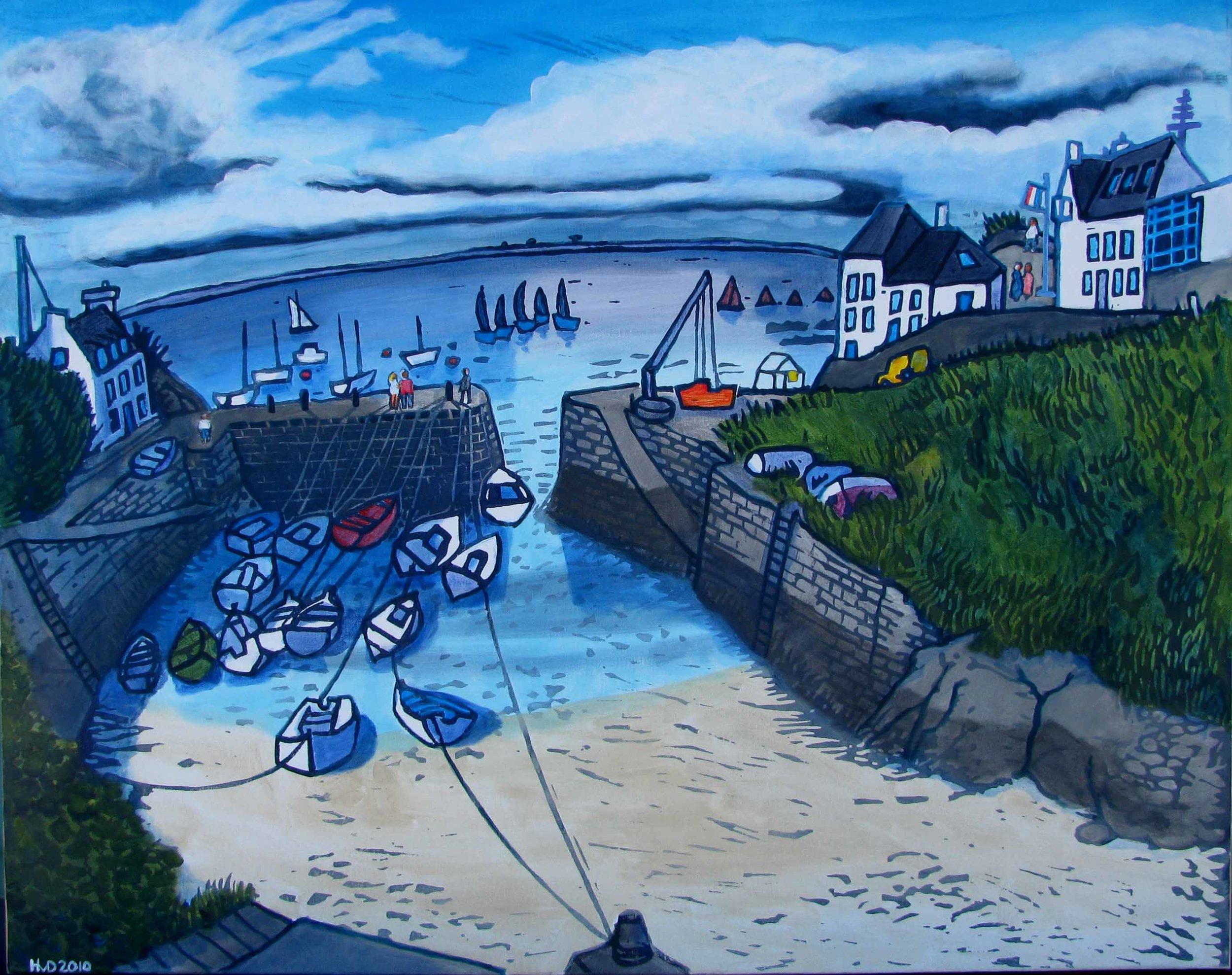 Port Lay, Groix, aquarell 80x100 cm