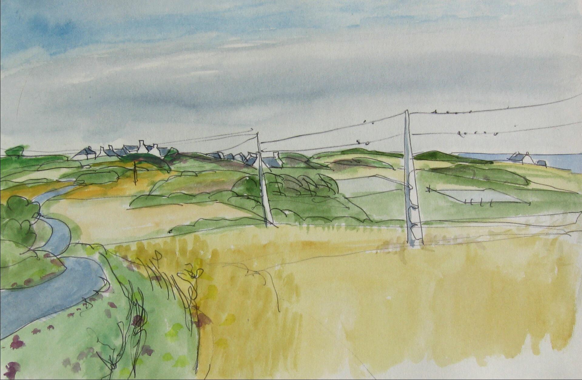 Groix, fields