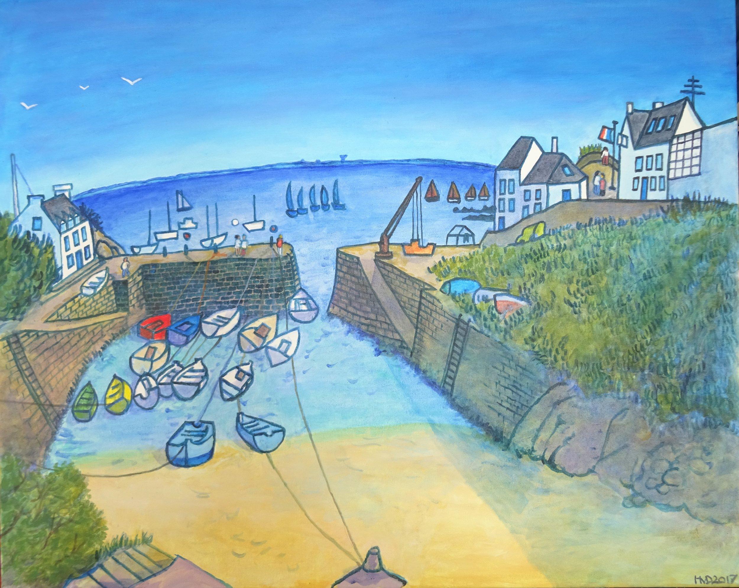 Port Lay, acrylic on canvas 80 x 100cm