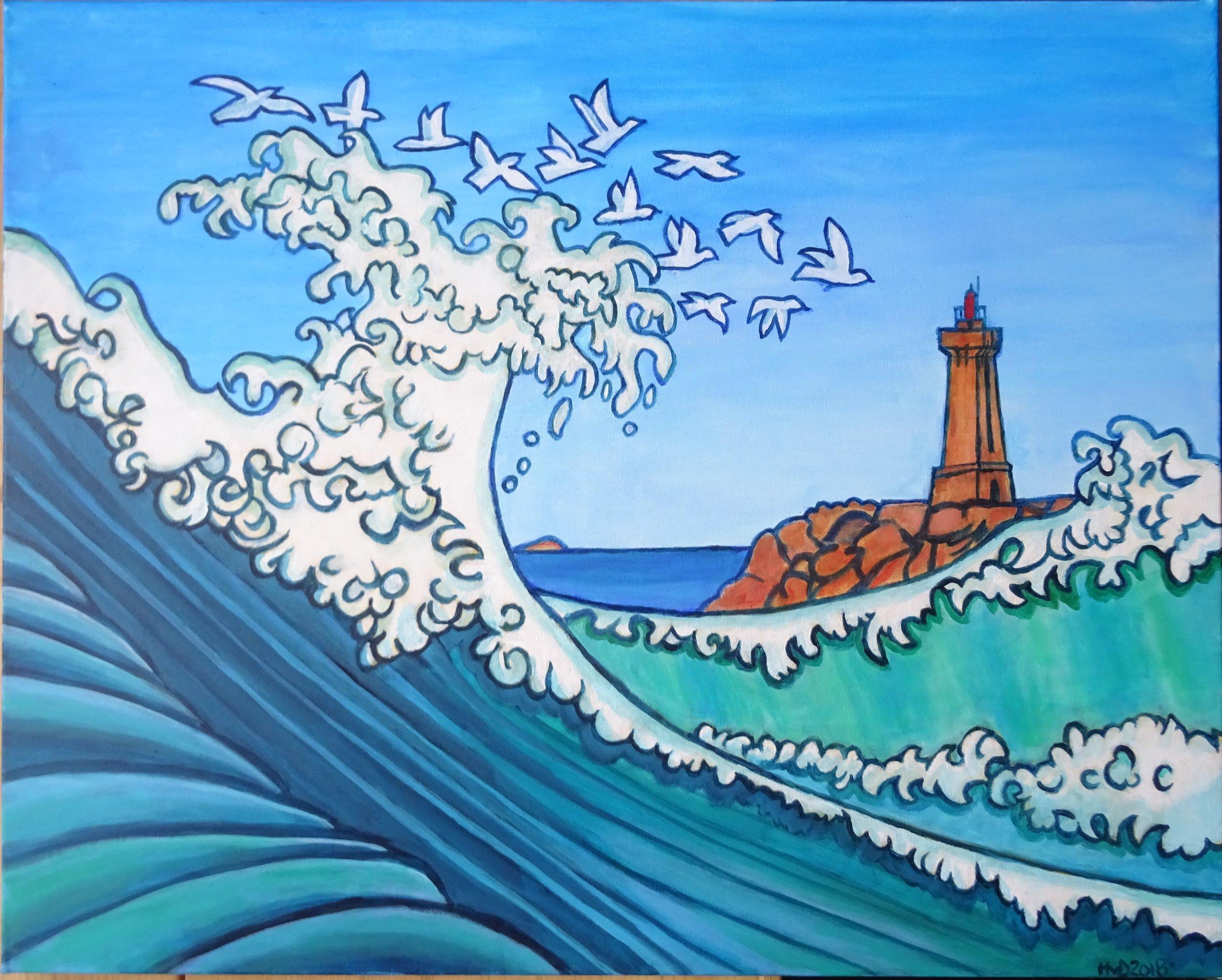 Ploumanac'h, acrylic on canvas 80 x 100cm