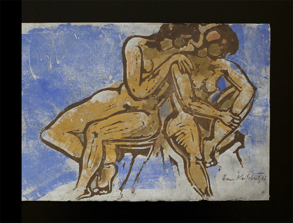two nudes, multicolour linoprint on japanese paper, 1977, 31 x 44,5 cm, edition of 4, 200 €
