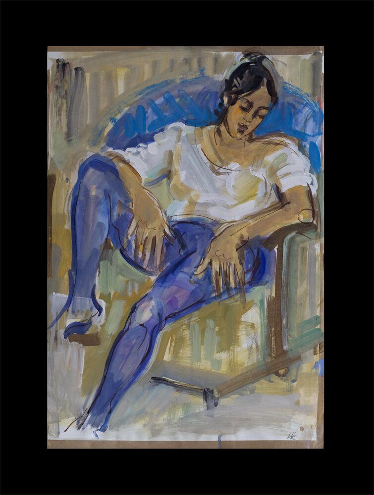 Patrizia, gouache on paper, 1978, 59 x 40 cm,   200 €