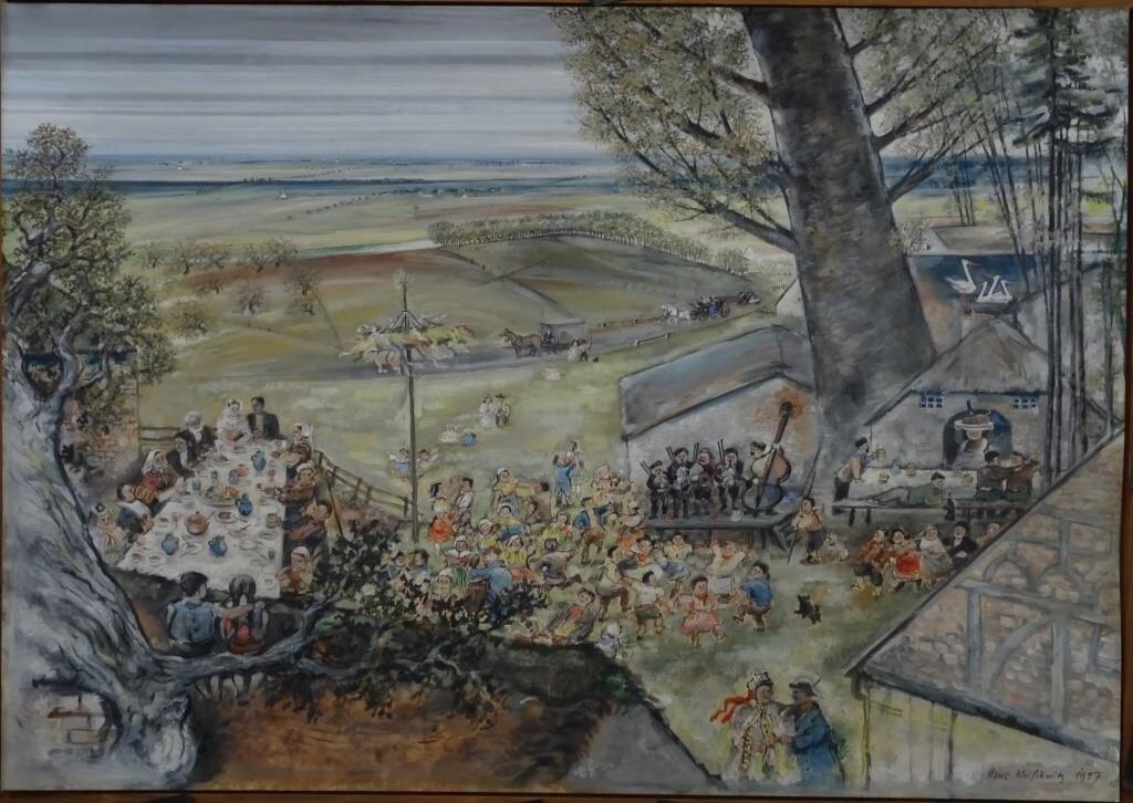 Sorbische Bauernhochzeit, gouache 1937