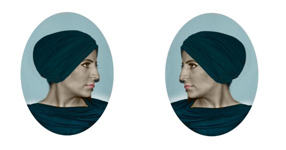 Badawyah fy Parees (A Bedouin in Paris) _4_2011_Digitalprint on Vinyl_approx.45cmx45cm x2pcs (1).png