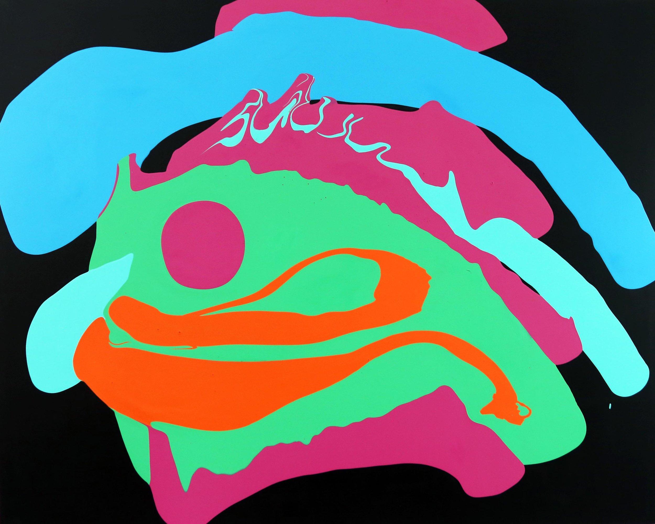 Jenny_Sharaf-The_California_Girl_Goes_To_Dubai-101x127cm-Paint_On_Pleather.jpg