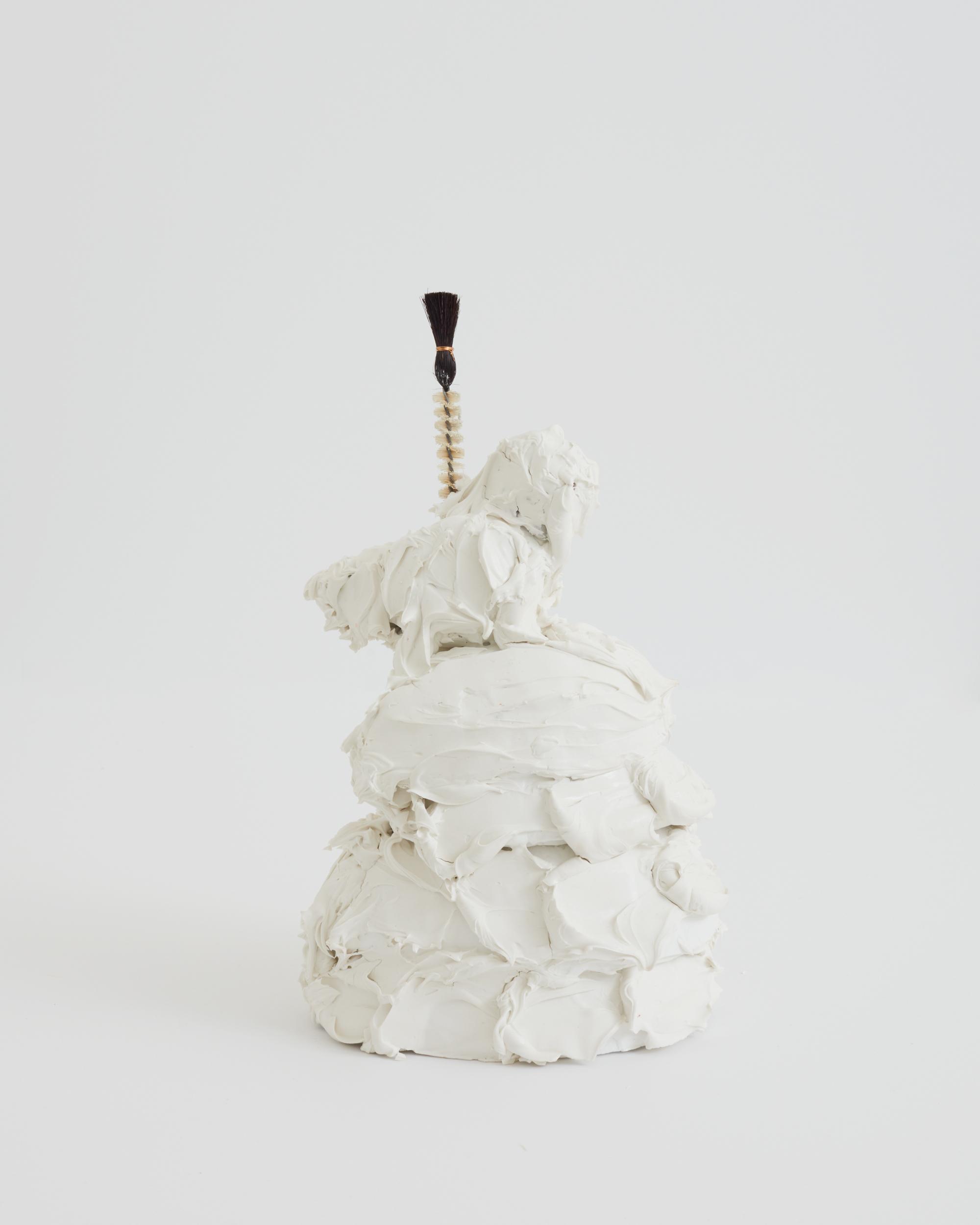 Maryam Keyahni, Twisted_Plaster, epoxy, foam, paints, hand-made brush_36x21x15cm.JPG