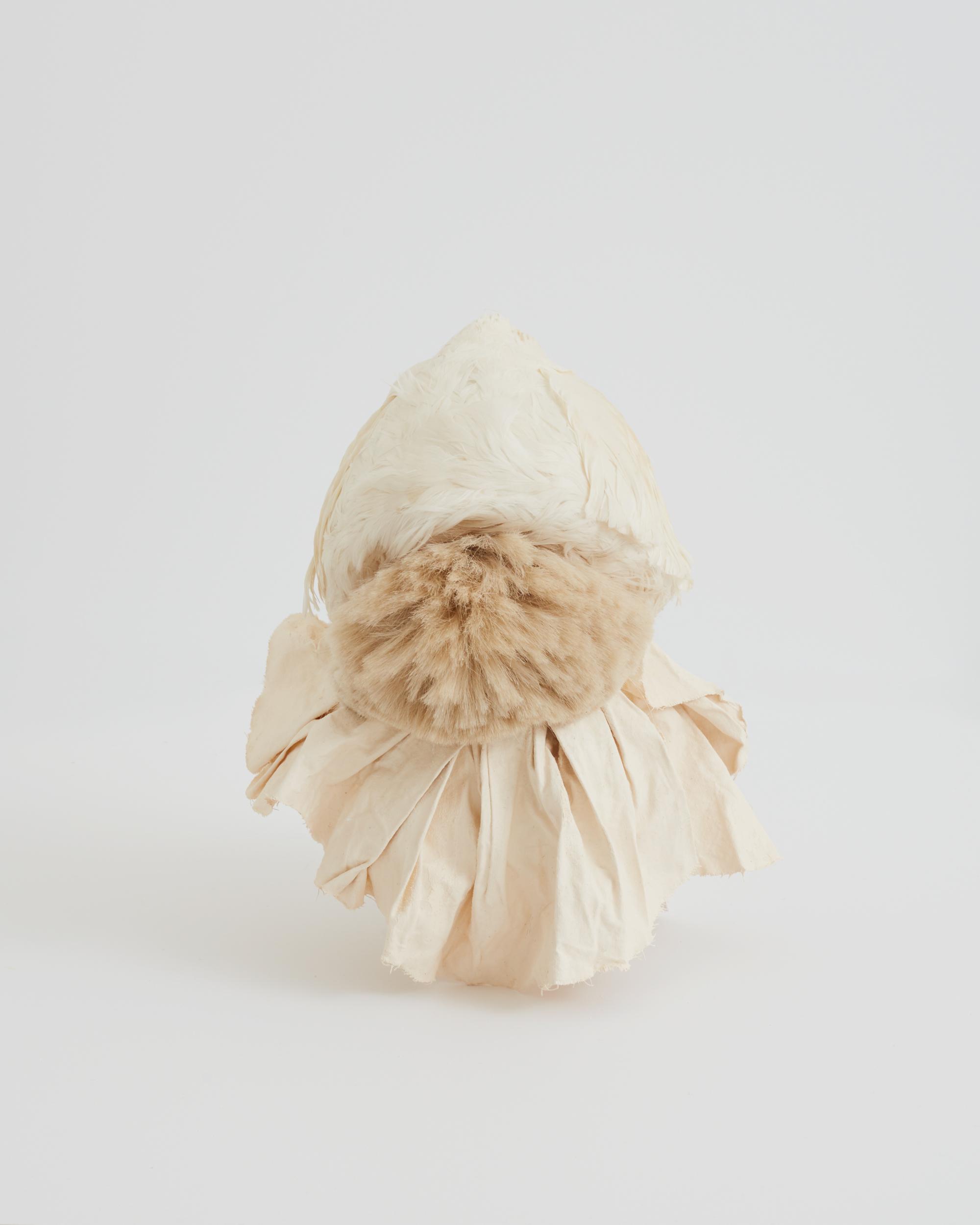 Maryam Keyhani_Swan Feather Hat_swan feather, canvas, paint, hand-made brush_25x28x33cm.JPG
