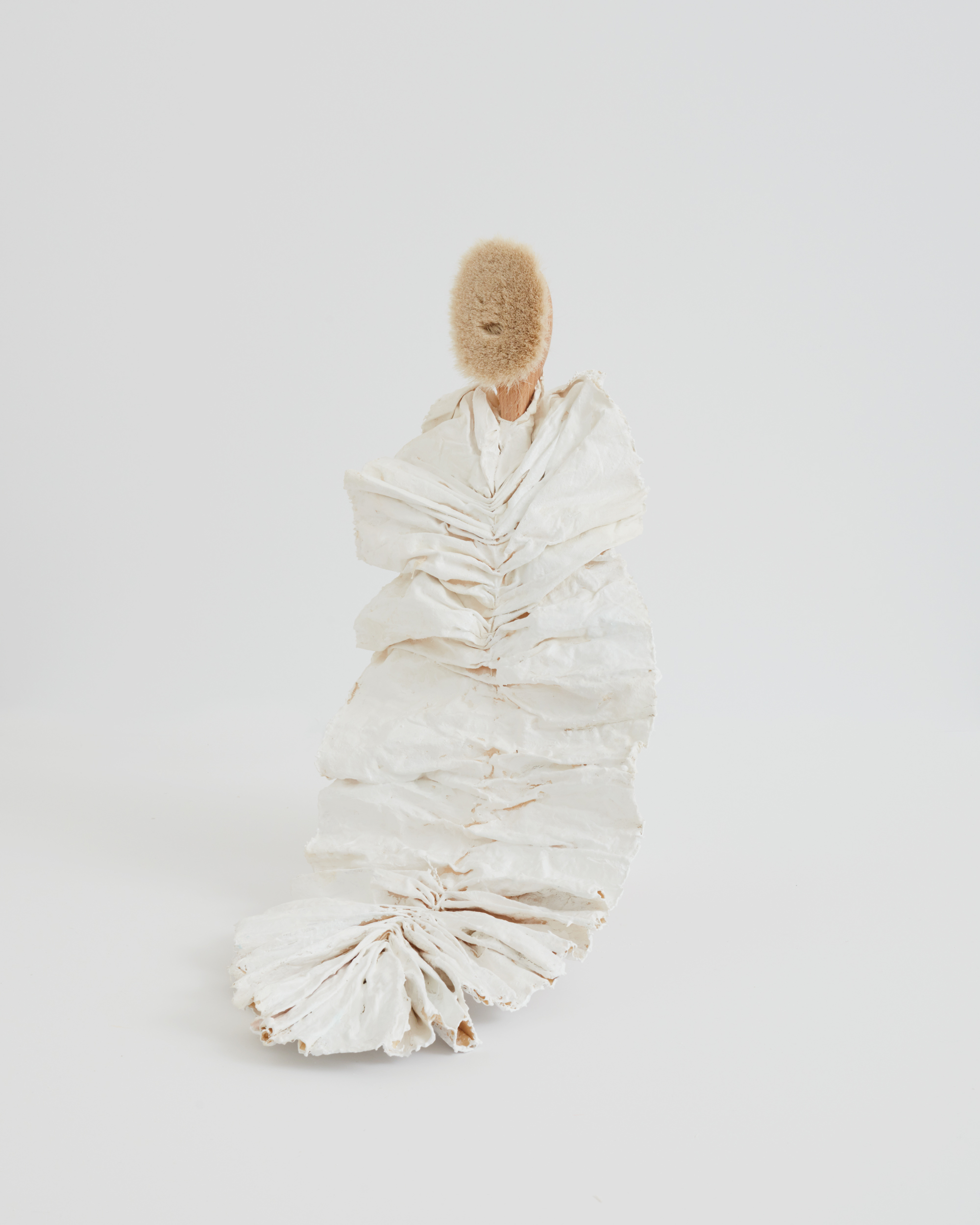Maryam Keyhani, Ruffled_Plaster, foam, paint, hand-made brush_28x2153cm.JPG