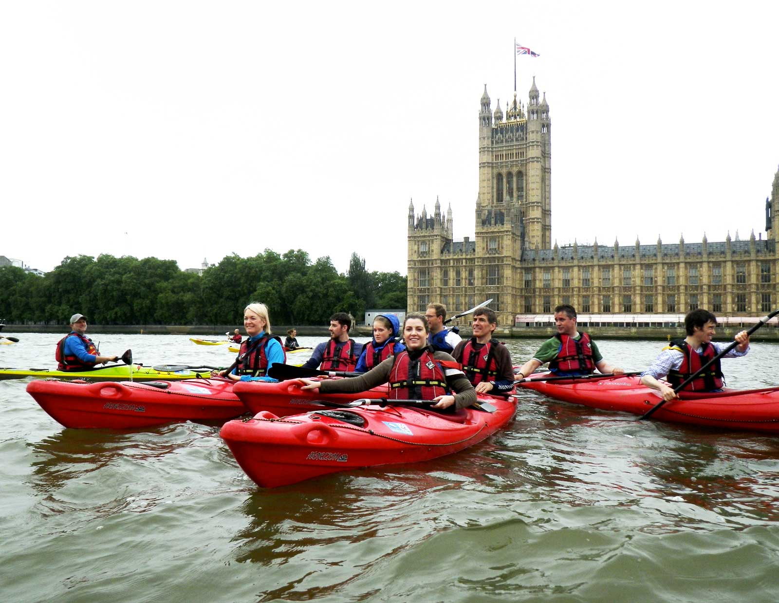 Taking MPs kayaking on the Thames -