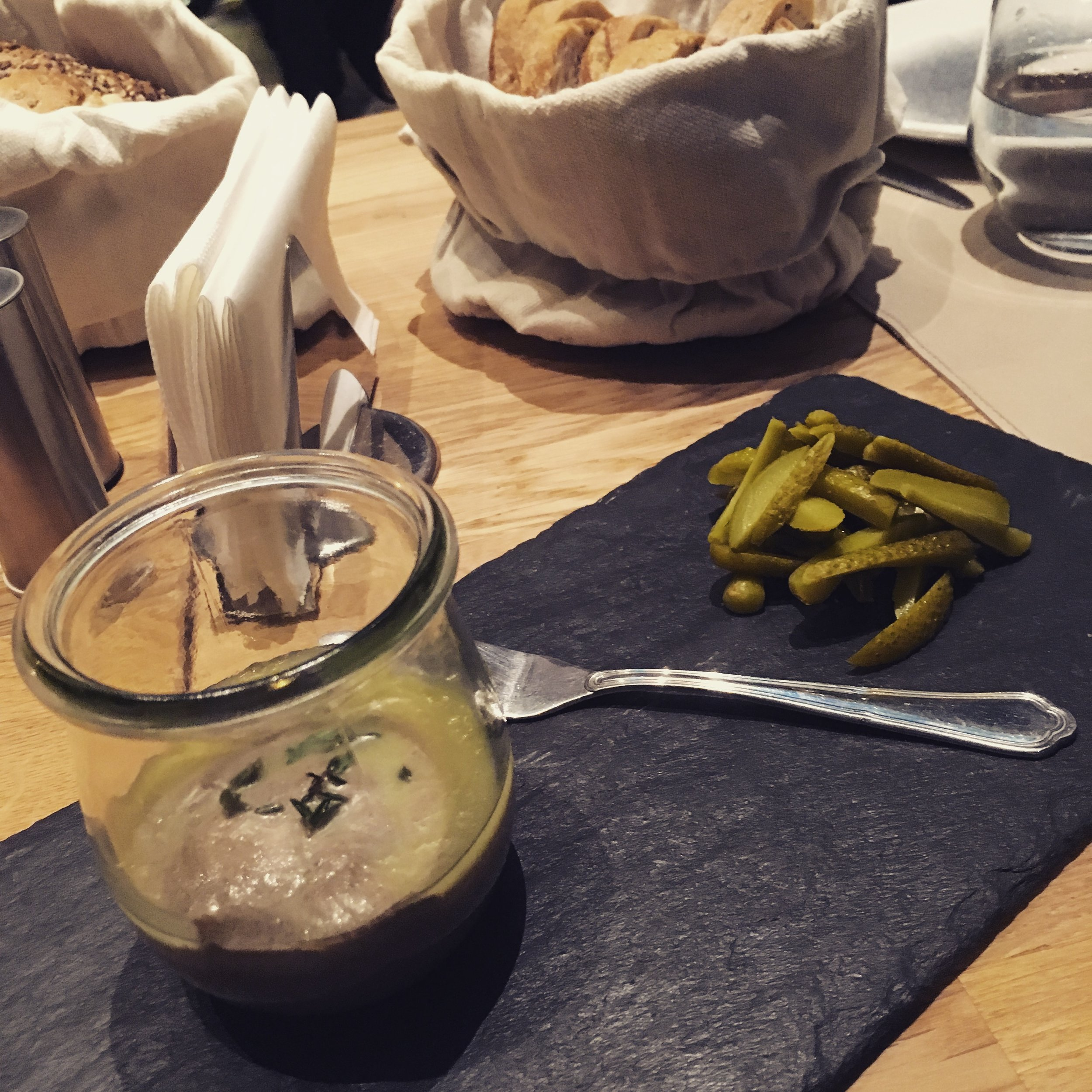 homemade liver pate with pickles