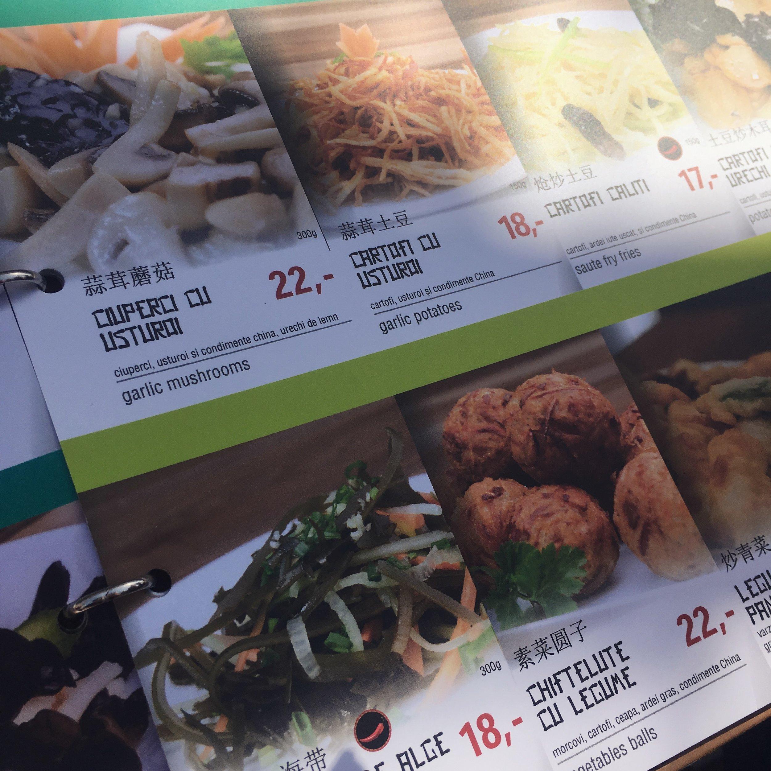 restaurant zao bucharest menu
