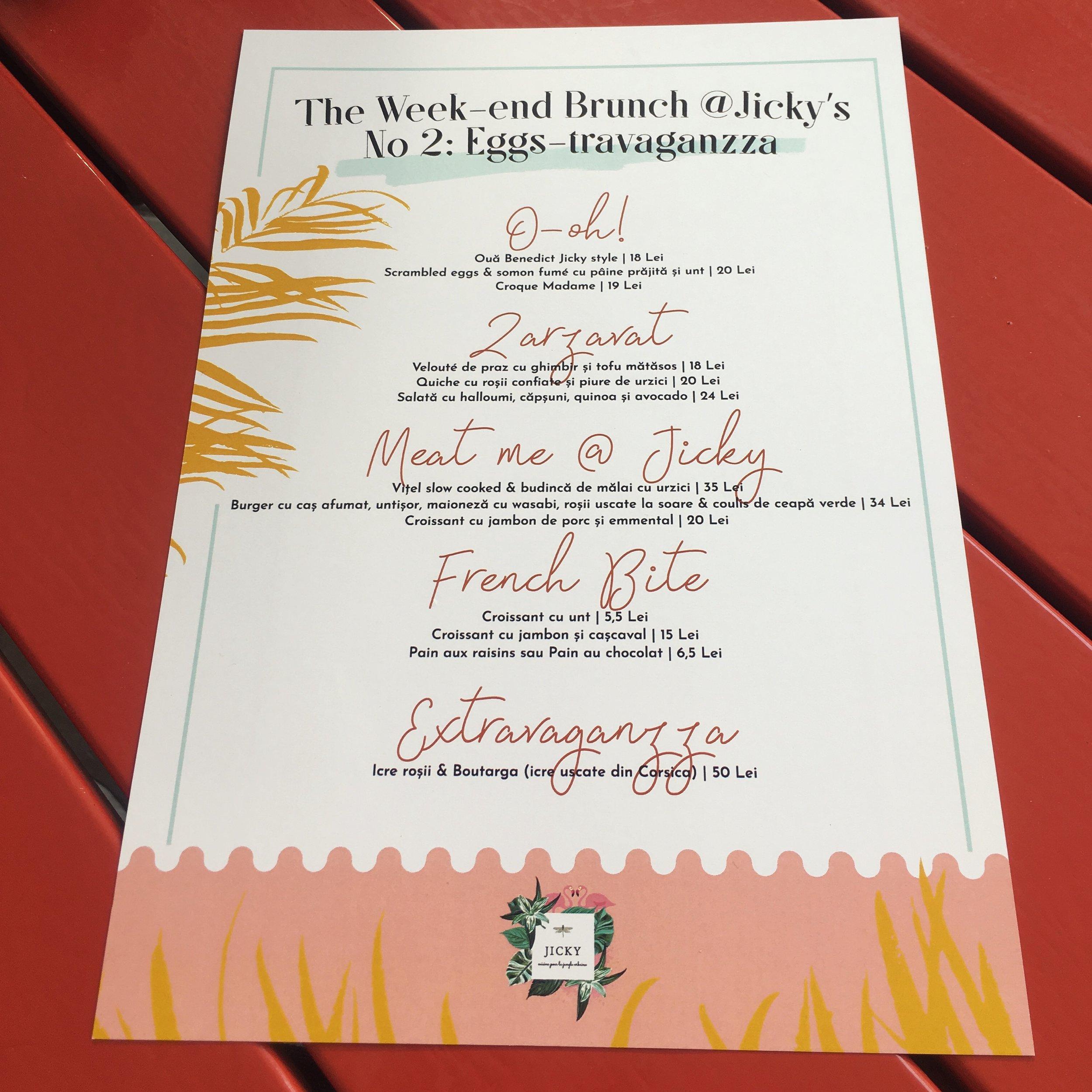 jicky cuisine bucharest menu