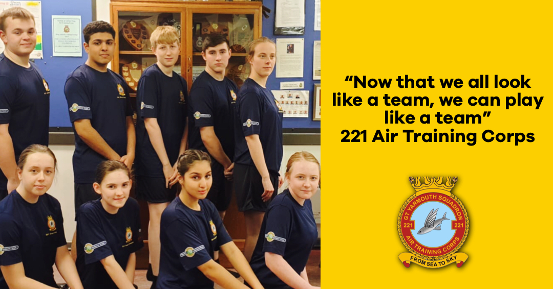 221 Air Training Corps in their new kit