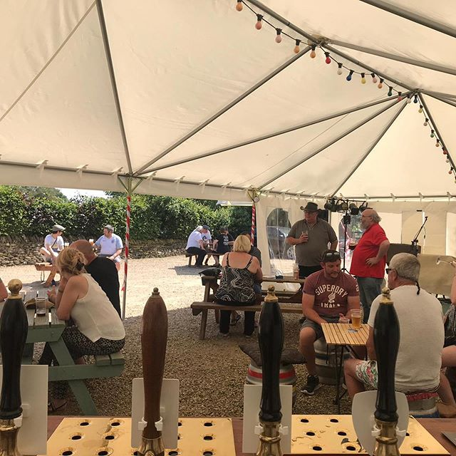 The festival is in full swing, bbq is on, the band is setting up and there's still plenty of beer to drink! So get yourself down NOW!