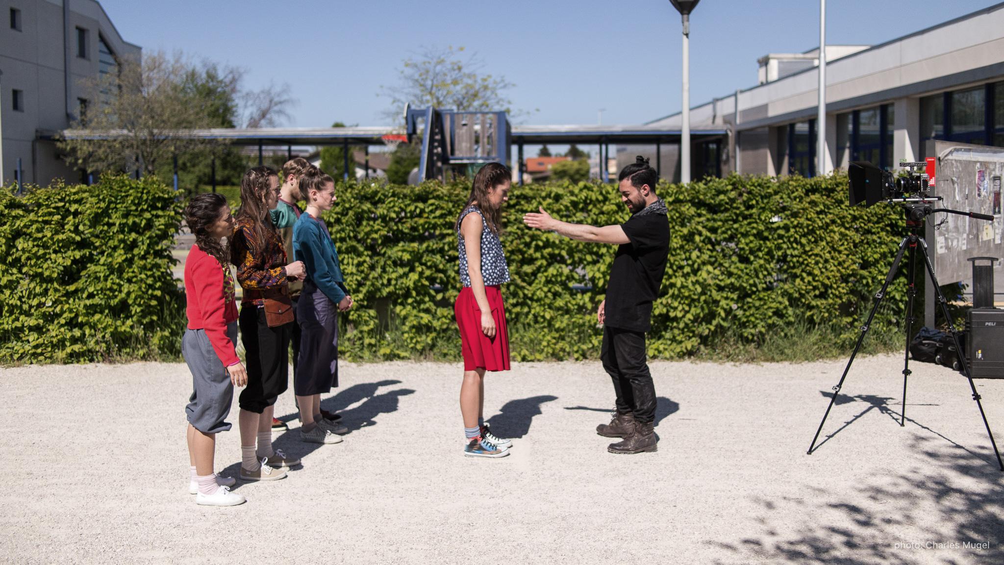 "Genève, Switzerland - Directing as cinematographer of short dance film ""Rencontre""."
