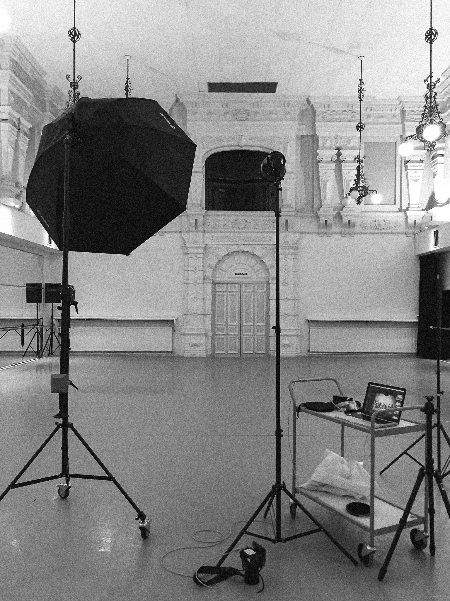 One of the three light setups we used for the main group cover photo.