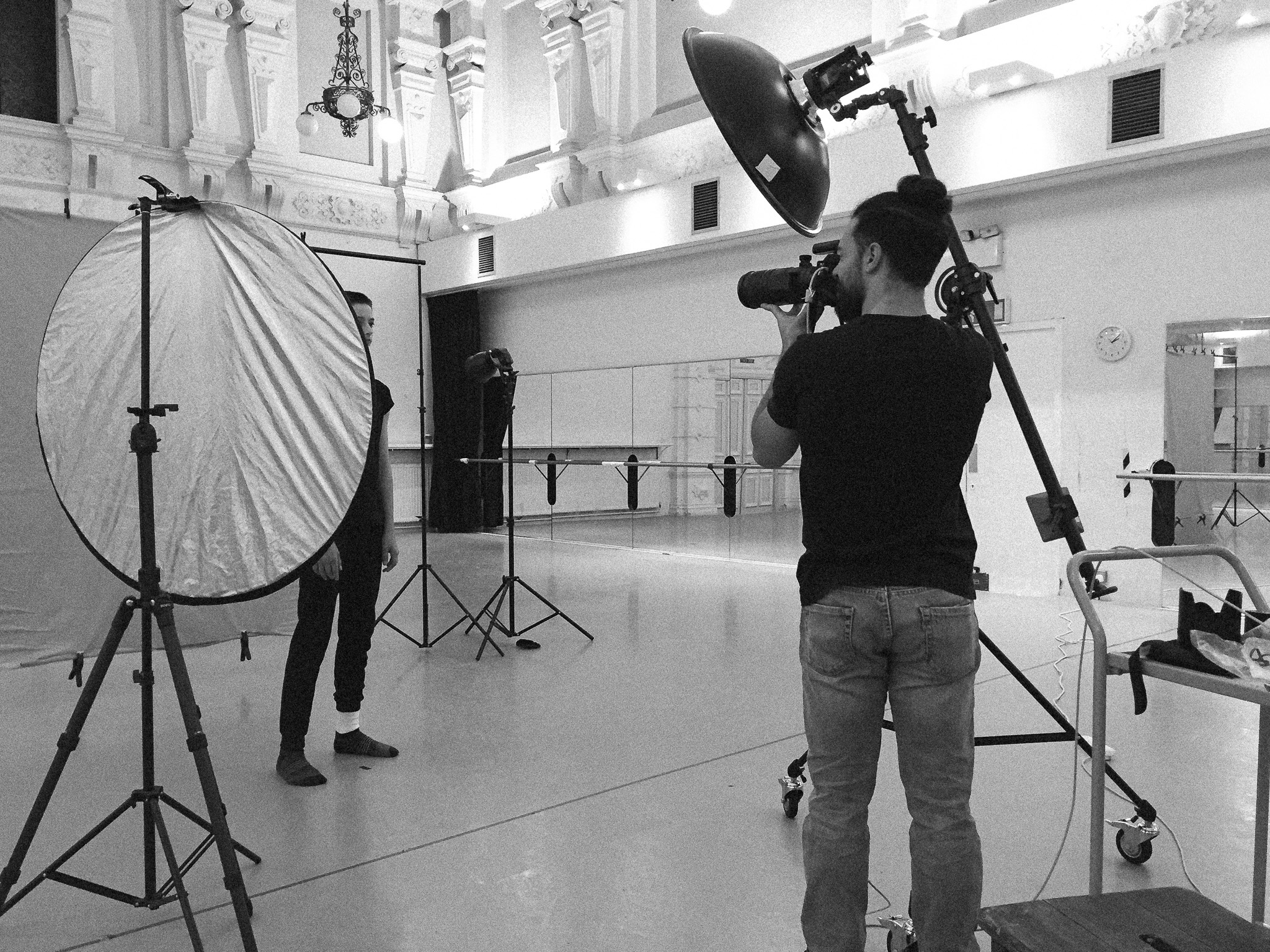 Connecting with the young dancers while shooting their portraits.