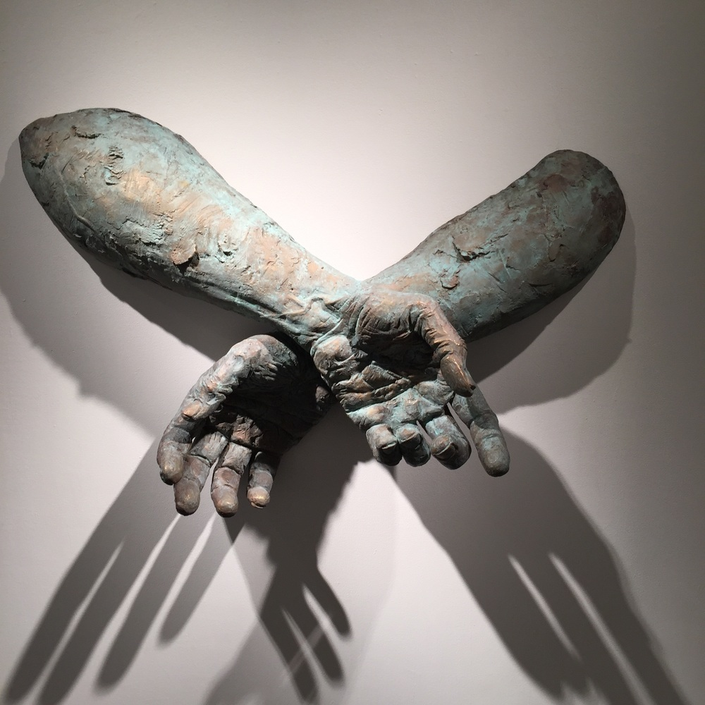 Matteo Pugliese, Crossed, 2013, Bronze, 50 1/4 x 29 1/2 x 14 1/2 inches