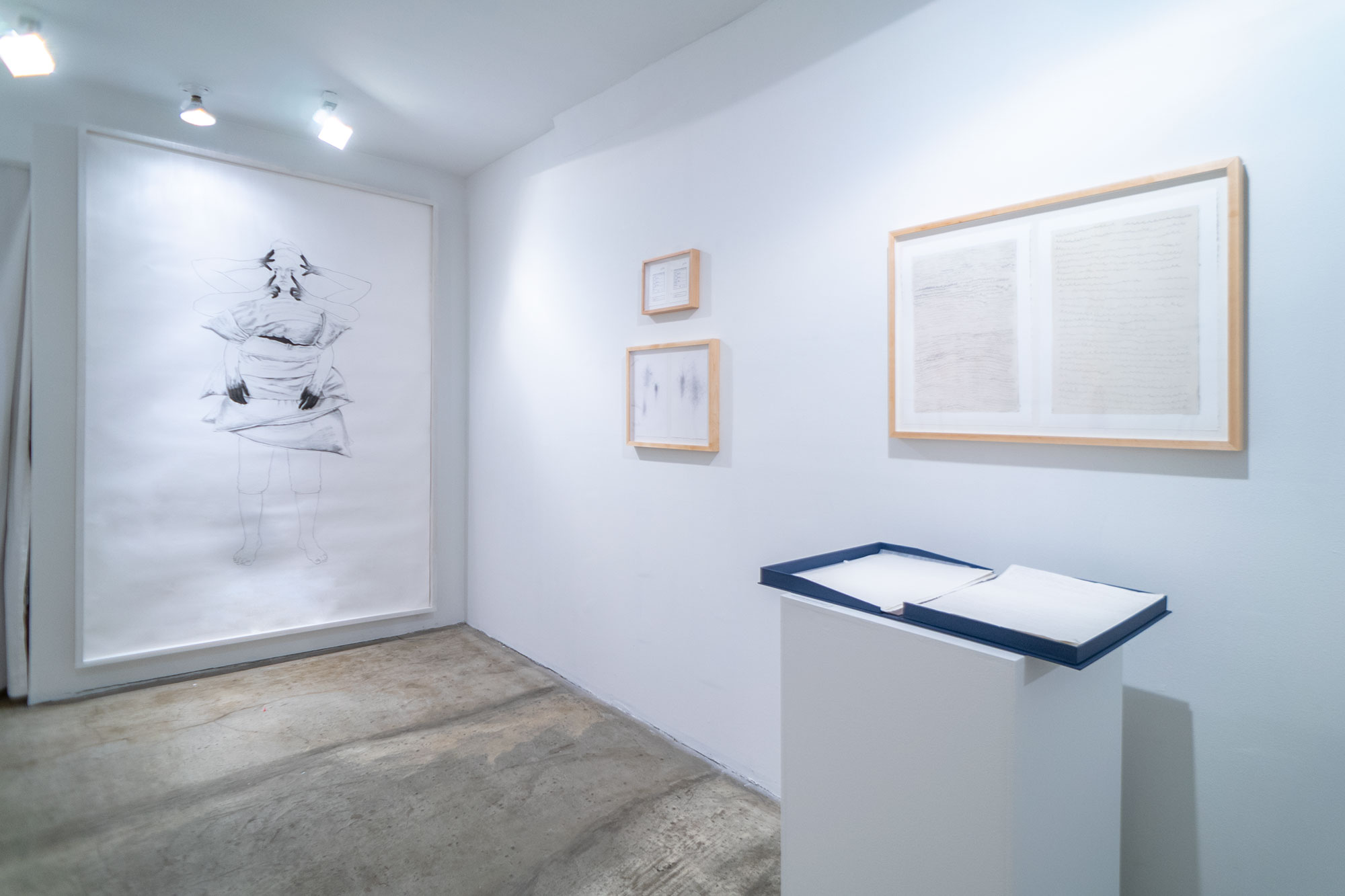 Installation view: The End & The Beginning; Alice Gibney and Sarah Irvin