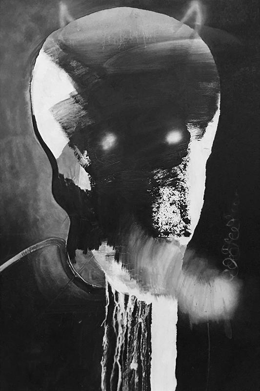 Eric Helvie, Terminator, 2019, Oil on canvas, 72 x 48 inches