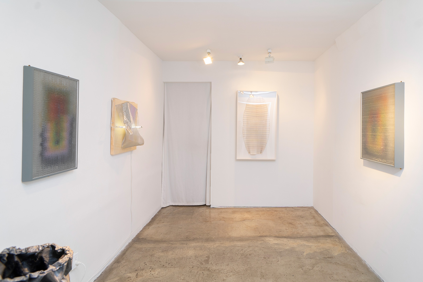 Installation view, Optic Wave: MaDora Frey + Caleb Nussear