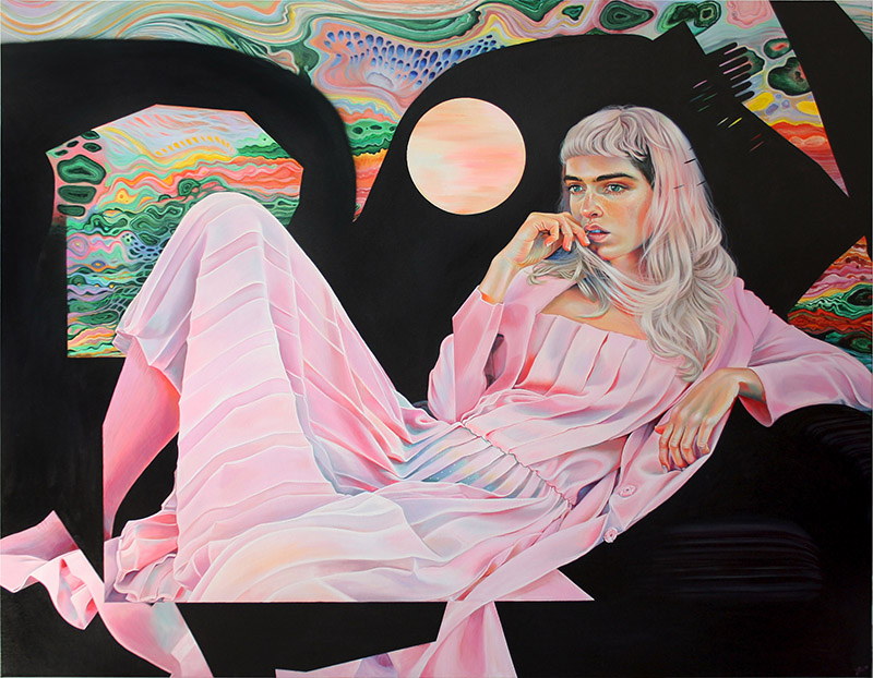 Martine Johanna Arcadia, 2018, Acrylic on linen, 55 x 70.8 inches, Price on request