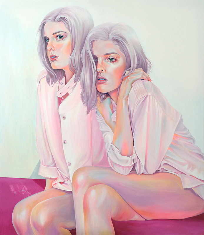 Martine Johanna, Forever Young, 2016, Acrylic on canvas, 63 x 55 inches, Price on request