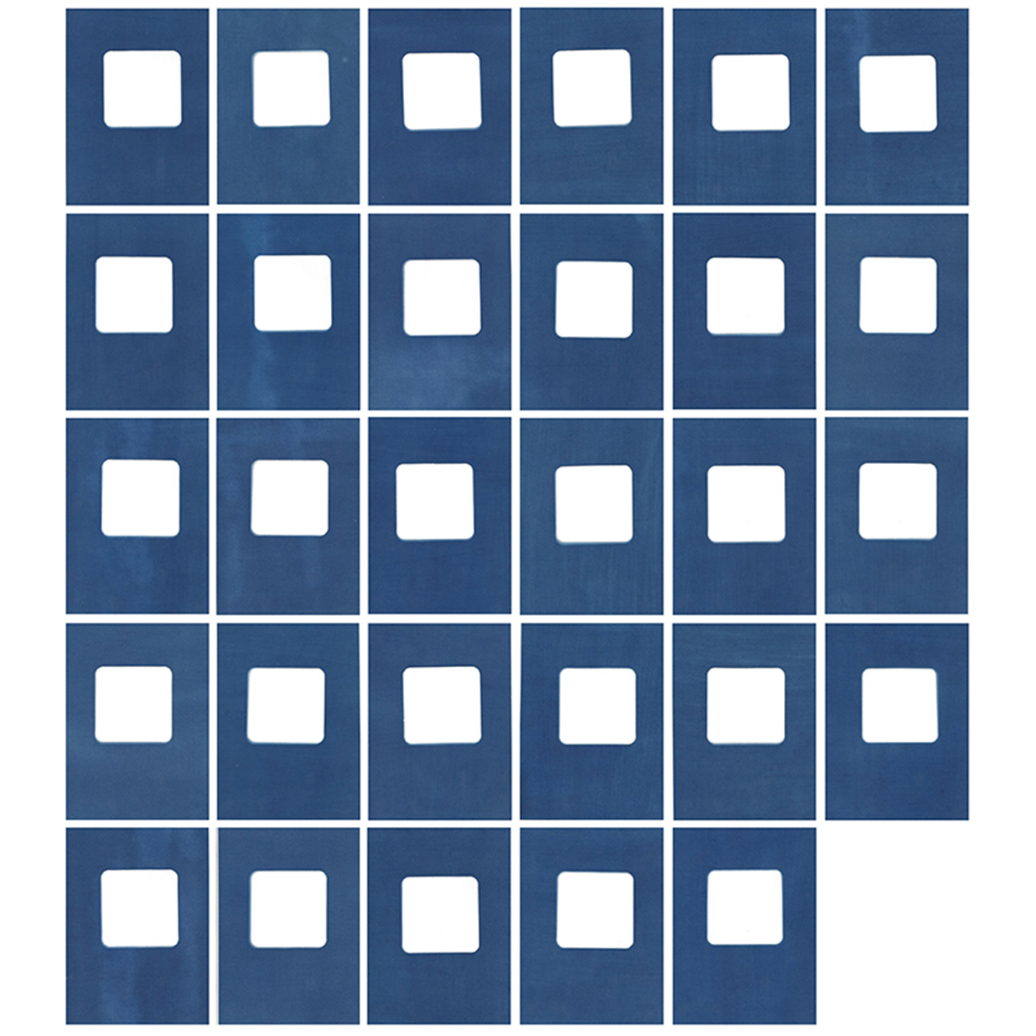 Sarah Irvin, Cyanotype Archive: Matching Game, 2019, Cyanotype, 49 x 44 inches