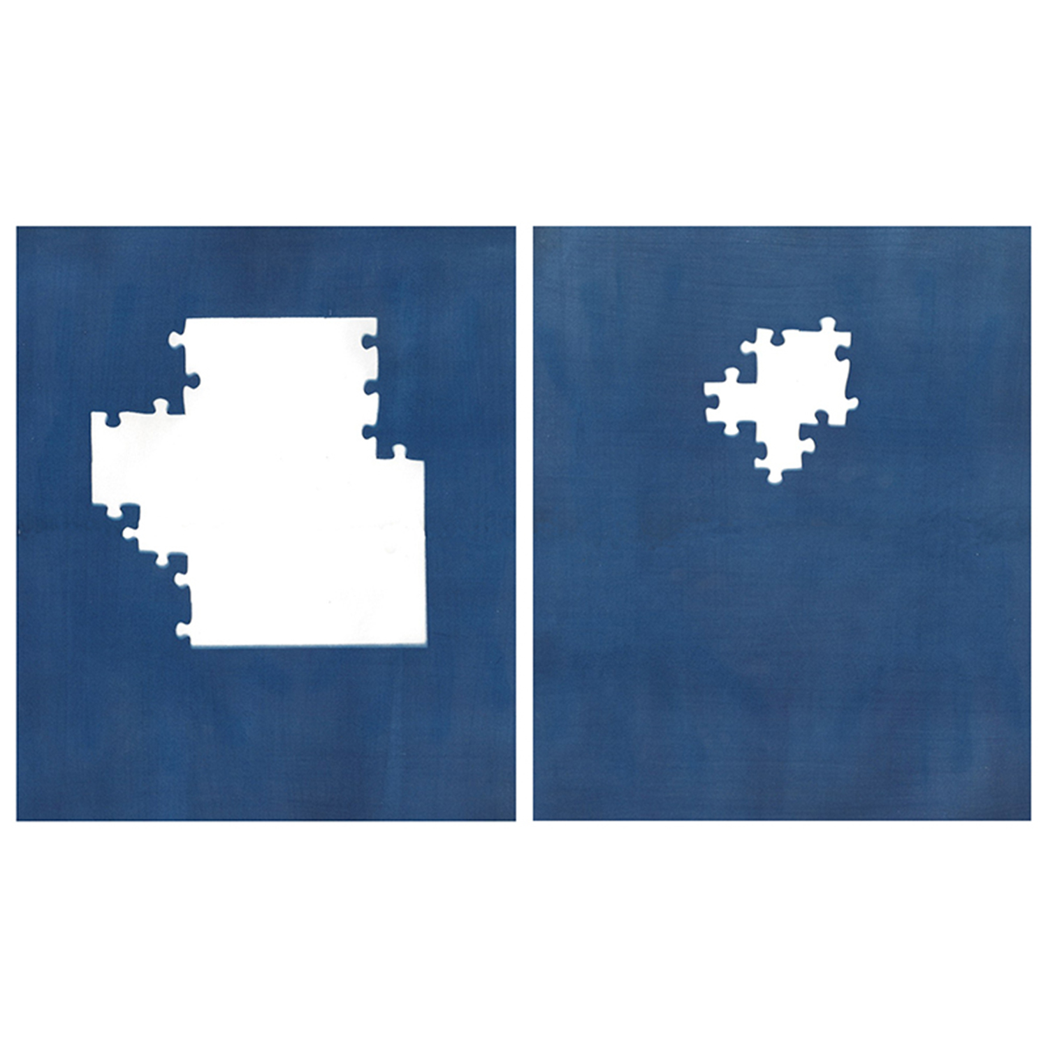 Sarah Irvin, Cyanotype Archive: Princess Puzzle, 2019, Cyanotype, 15 1/2  x 26 1/2 inches