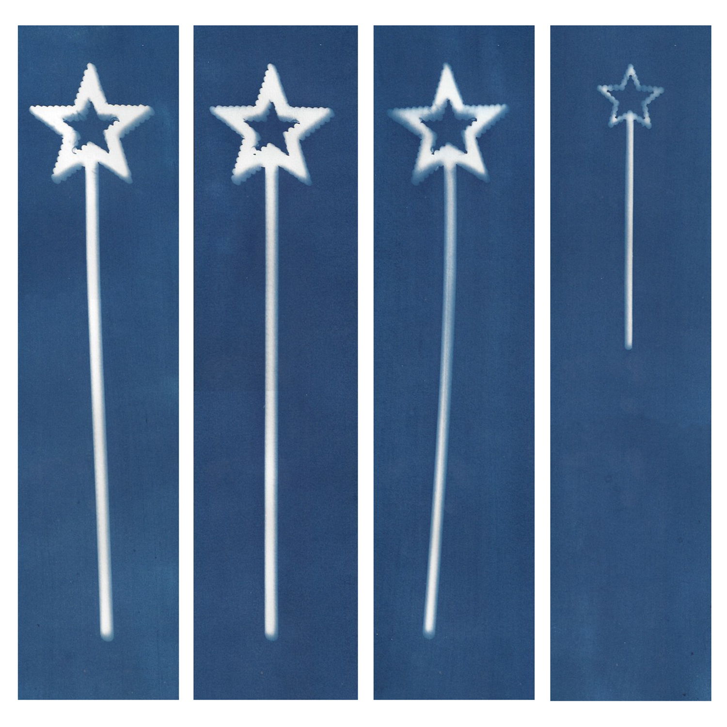 Sarah Irvin, Cyanotype Archives: Star Wands, 2019, Cyanotype, 16 1/4 x 24 inches