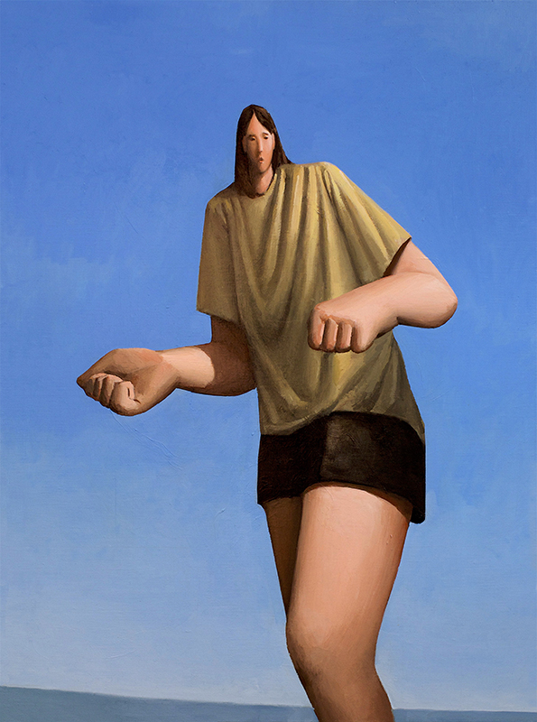 Tony Toscani, Frightened Giant, 2019, Oil on linen, 35 x 26 inches