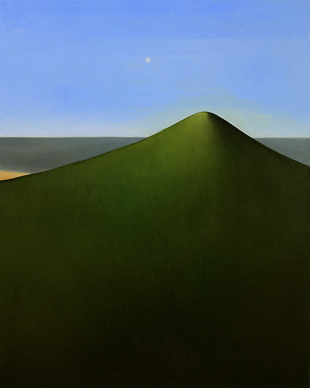 Tony Toscani, The Mound, 2019, Oil on linen, 40 x 32 inches