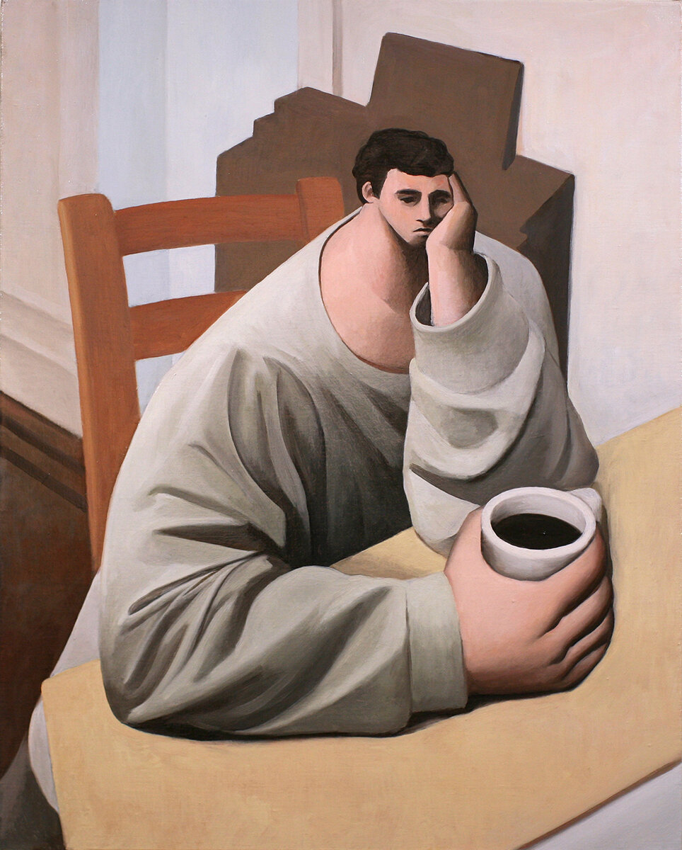 Tony Toscani, Melancholy, 2018, Oil on linen, 30 x 24 inches